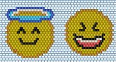 Изделия из бисера Peyote Patterns, Loom Patterns, Beading Patterns, Stitch Patterns, Beaded Banners, Smileys, Peyote Beading, Beaded Animals, Bead Jewellery