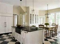 <3 Polished * Plum: Black & White Kitchens