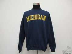 Vtg 90s Santee Michigan Wolverines Crewneck Sweatshirt sz XL Extra Large Brady #Santee #MichiganWolverines