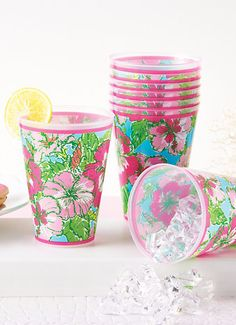 Lilly Pulitzer Tumblers (Set of 8 for just $16)