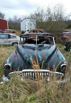 Ragtop Buick Sitting in Dover, Arkansas. Tripper's Travels.