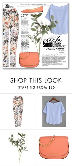 """""""Bloue stripe blouse"""" by azra10 ❤ liked on Polyvore featuring Phase Eight, H&M, Michael Kors and Jimmy Choo"""