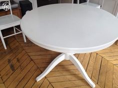 1000 ideas about table ronde extensible on pinterest table ronde stretch - Ikea table ronde blanche ...