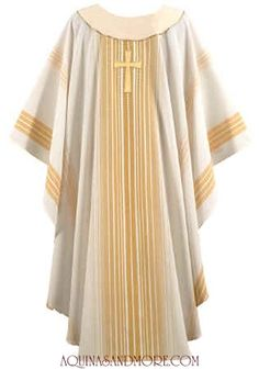 Cream and Gold Chasuble with Cross