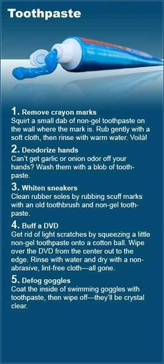 DIY ideas for toothpaste.  (I like second one)