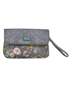 Look at this #zulilyfind! Gray French Flowers Clutch by Oilily #zulilyfinds
