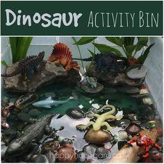 Dinosaur Activity Bin from Happy Hooligans