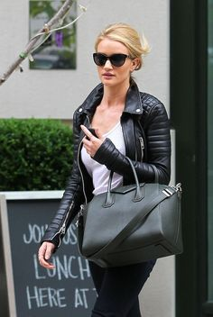 Rosie with a quilted leather jacket. http://chictrends.co.uk/chictrends-quilted-accents/