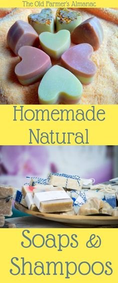 Make your own homemade, all-natural soap, shampoo, deodorant, and household cleaners! DIY recipes and descriptions at Almanac.com.