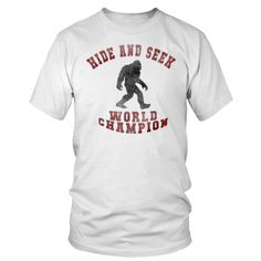 8b0ca050 Hide And Seek World Champion - Bigfoot Is RealFunny T-shirt, 80s Retro And