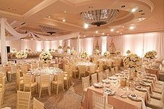 wedding reception with round and rectangular tables - Google Search