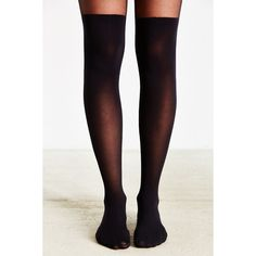 Super High Faux Thigh-High Tight ($14) ❤ liked on Polyvore featuring intimates, hosiery, tights, sexy stockings, opaque stockings, sexy pantyhose, opaque thigh high stockings and sexy tights