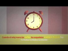 Canción infantil - telling time - YouTube