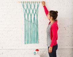 Macra-make a Gorgeous Macrame Wall Hanging: this is an adorable piece for your home that is cheap and easy!