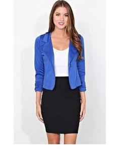 Royal blue blazer outfit