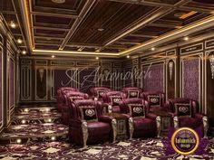 Luxury Cinema Home Design Home Cinema Room, At Home Movie Theater, Home Theater Design, Door Design, House Design, Home Cinemas, Iron Doors, Smart Home, My Dream Home