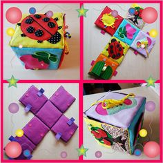 Items similar to Taggie cube soft toy on Etsy Diy Quiet Books, Felt Quiet Books, Cube Bebe, Baby Cubes, Quiet Book Templates, Baby Sewing Projects, Fabric Toys, Baby Learning, Book Quilt