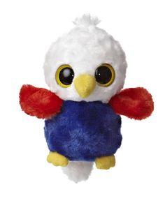 "5"" Aurora Plush Yoo Hoo & Friends Bald Eagle Stuffed Animal Toy w/ Sound 29037"