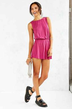 Silence + Noise Two Twisted Romper - Urban Outfitters