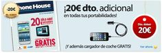 Telefonía con Phone House descuentos exclusivos en todos los terminales en portabilidades, renove y libres