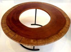 Hollowed tree stump table