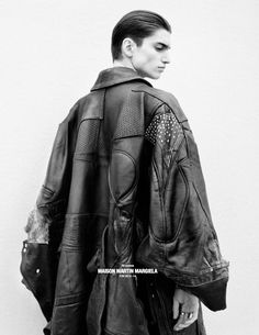 Maison Martin Margiela- PATCHWORKED LEATHER CAPE