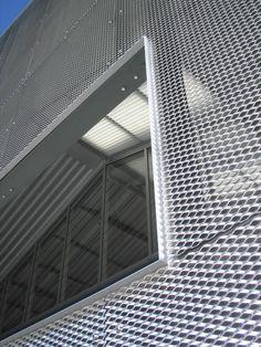 steel grate exterior cladding