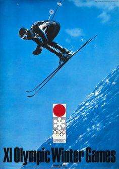 Japanese Poster: Sapporo Olympics 1972.  Design by Yusaku Kamekura