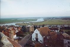 Rye panorama. The Ypres Tower, Rother, Rye Barbour and marshes.