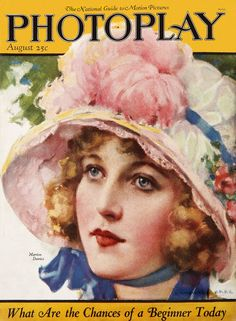 Marion Davies - Cover Art by J. Knowles Hare - Photoplay - August 1923