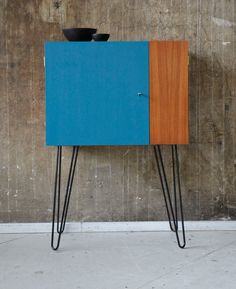60er TEAK BARSCHRANK KOMMODE VINTAGE 60s BAR CABINET MIDCENTURY in Antiquitäten & Kunst, Design & Stil, 1960-1969 | eBay