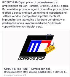 Chiapperini Rent - Lavora con noi Invia la tua candidatura a  info@chiapperinimotors.it