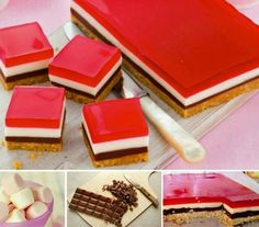 Chocolate mellow jelly slice
