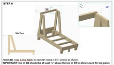 Construction Truck Bed Plans  For a DIY Construction Themed