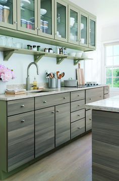 Sleek, modern, and organized. Just like you! Your Martha Stewart Living dream kitchen awaits @homedepot.