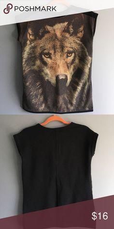 """Zara Used, normal wear. Shoulders 16.5"""", length 23"""". Zara Tops Tees - Short Sleeve"""