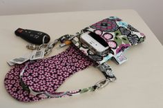 iphone 5  Cell Phone Bag  Wallet  Wristlet  by PurseAndPouch, $22.50