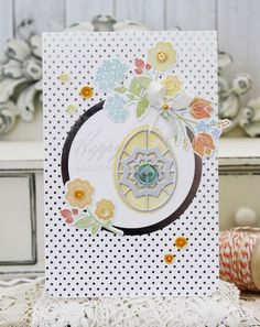 Happy Easter Card by Melissa Phillips for Papertrey Ink (February 2015)