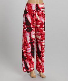 Love this Fuchsia Tie-Dye Palazzo Pants on #zulily! #zulilyfinds