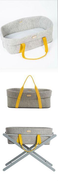 Moses basket by moKee, wool felt bassinet for your nursery #woolnest #nursery #bassinet