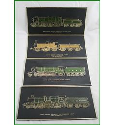 Set of four train wall plaquesJohn Crawley made under license by Frank Down…