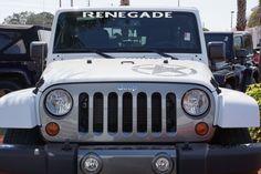 Jeep Wrangler RENEGADE Windshield Decal