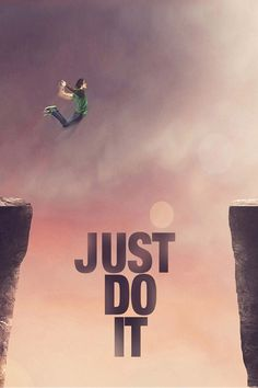Download Nike Just Do It Jump Cliff iPhone Wallpaper