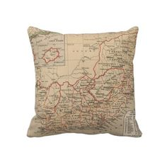 Vintage Map of South Africa (1880) Throw Pillows from Zazzle.com $62.50