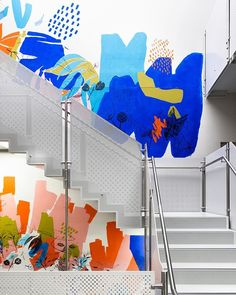 Creating A Neuro-Diverse Lens For Workplace Design - Decoration Office Wall Design, Office Mural, Office Designs, Mural Wall Art, Mural Painting, Office Branding, Identity Branding, Visual Identity, Workplace Design