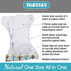 Thirsties all in one washable nappy