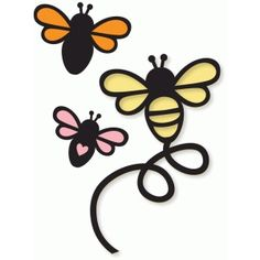 Welcome to the Silhouette Design Store, your source for craft machine cut files, fonts, SVGs, and other digital content for use with the Silhouette CAMEO® and other electronic cutting machines. Bee Embroidery, Embroidery Designs, Bee Crafts, Arts And Crafts, Silhouette Design, Silhouette Cameo, Bee Stencil, Stencils, Bee Rocks