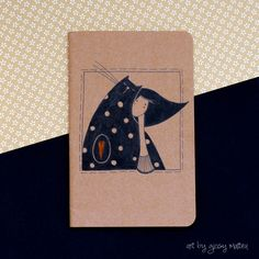 ink illustration notebook cover by Giosy Matteu