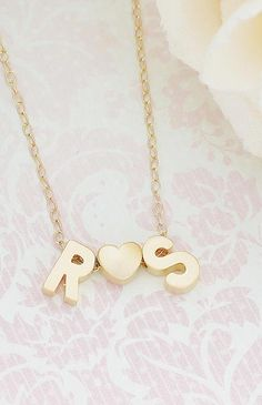 Initial personalized gold filled necklace from EarringsNation couple necklace