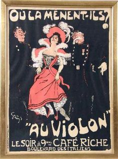 THREE FRAMED TOULOUSE-LAUTREC POSTERS